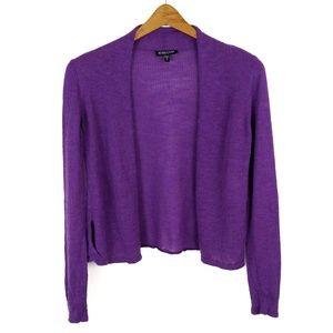 Eileen Fisher Purple Wool Cardigan Sweater Small